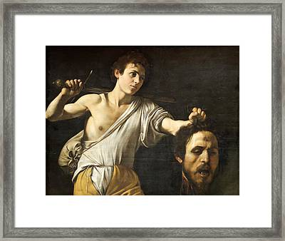 David With The Head Of Goliath Framed Print by Celestial Images