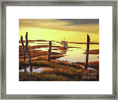 Dawn At Saltmarsh Framed Print