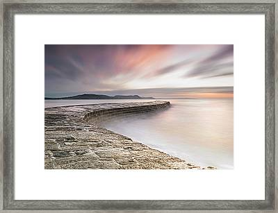 Dawn At The Cobb Framed Print by Chris Frost