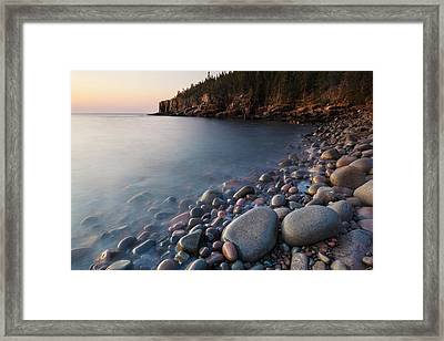 Dawn In Monument Cove In Maine's Acadia Framed Print