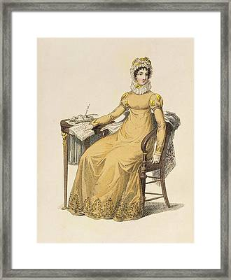 Day Dress, Fashion Plate Framed Print by English School
