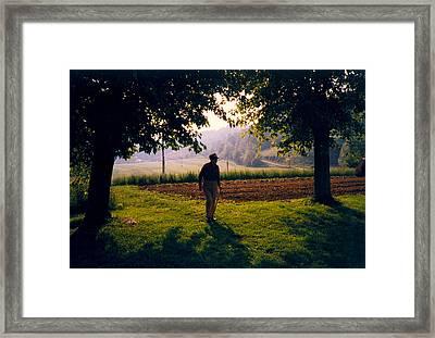 Day Is Done Framed Print by Douglas Barnett