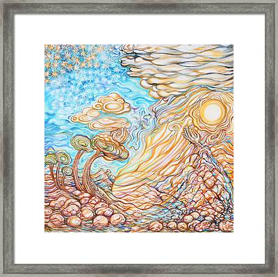 Day Of The Soul Framed Print by Susan Schiffer