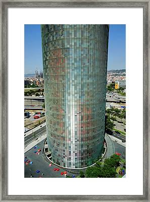 Day View Of Phallic-shaped Torre Agbar Framed Print