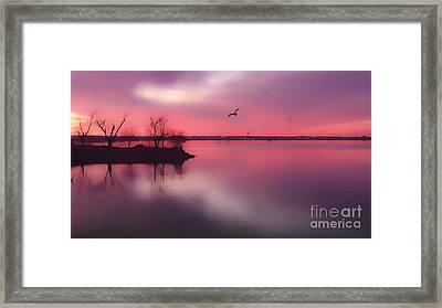 Day's End Framed Print by Betty LaRue
