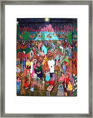 Days Of The Dead Framed Print by Maria Alquilar