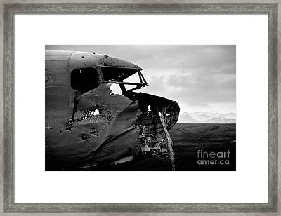 Framed Print featuring the photograph Dc 3 Iceland by Gunnar Orn Arnason