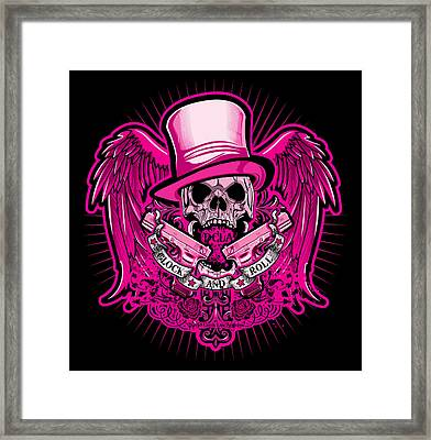 Dcla Glock And Roll Rocker Pink Framed Print by David Cook Los Angeles