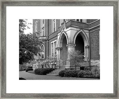 De Pauw University East College Framed Print by University Icons