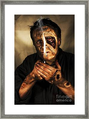 Dead Man Smoking Framed Print by Jorgo Photography - Wall Art Gallery