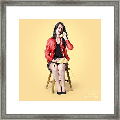 Dead Receptionist Taking A Message From The Grave Framed Print by Jorgo Photography - Wall Art Gallery