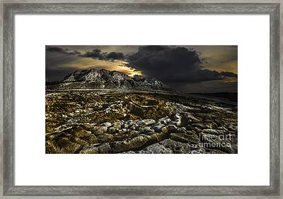 Dead Sea Sink Holes Framed Print by Dan Yeger