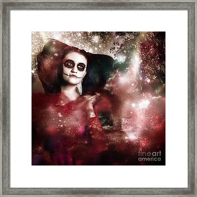 Death And Creation Framed Print