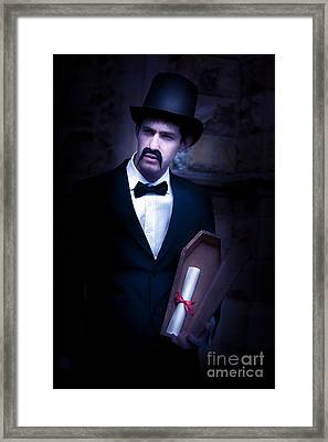 Death Message Framed Print by Jorgo Photography - Wall Art Gallery