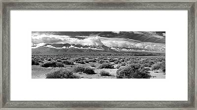 Death Valley Landscape, Panamint Range Framed Print