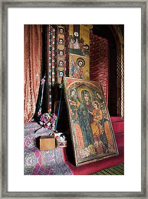 Debre Berhan Selassie Church In Gonder Framed Print by Martin Zwick