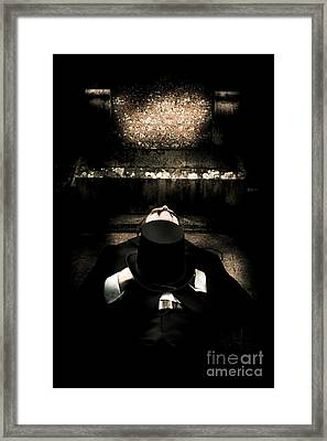 Deceased Man In Repose Framed Print by Jorgo Photography - Wall Art Gallery