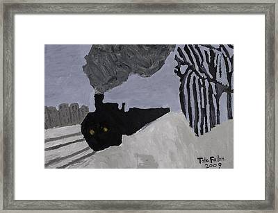 Framed Print featuring the painting Deco Train by Tate Fallon