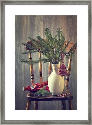 Decorating For Christmas Framed Print