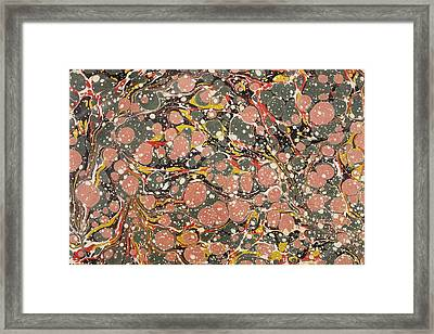 Decorative End Paper Framed Print by English School