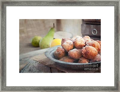 Deep Fried Fritters Donuts Framed Print by Mythja  Photography