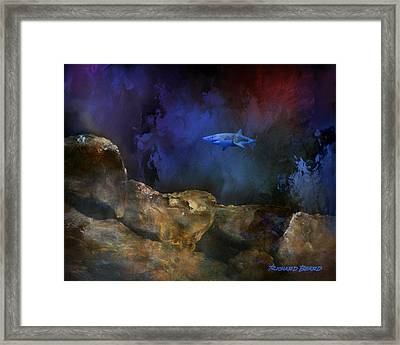 Deep Water Shark Framed Print