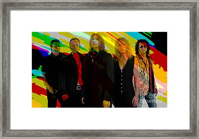 Def Leppard Framed Print by Marvin Blaine