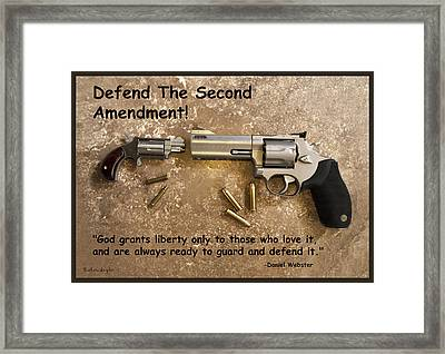 Defend The Second Amendment Framed Print by Barbara Snyder