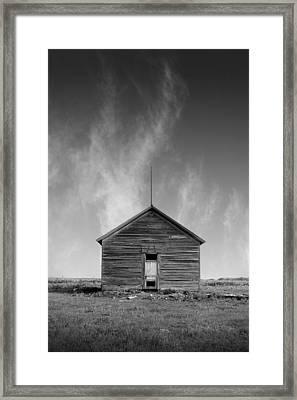Defunct Country School Building - Rural North Dakota Framed Print