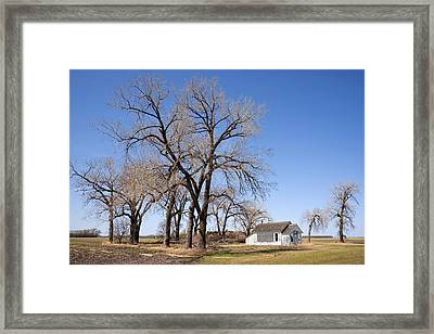 Defunct One Room Country School Framed Print by Donald  Erickson