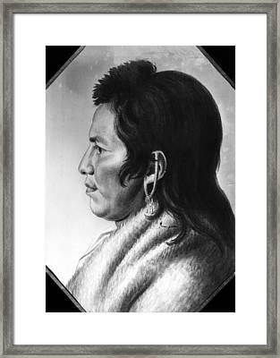 Delaware Native American Framed Print