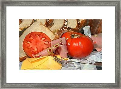 Deli Sandwich Framed Print by Diana Angstadt