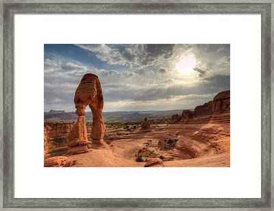 Delicate Arch Framed Print by Jeff Lewis