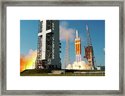 Delta Iv Rocket Launch Framed Print by National Reconnaissance Office