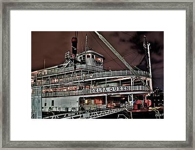 Delta Queen Framed Print