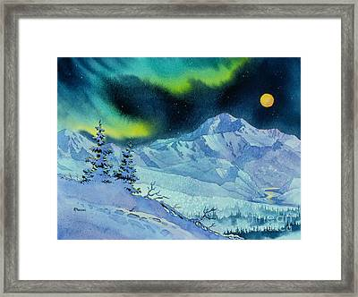 Denali Night Framed Print by Teresa Ascone