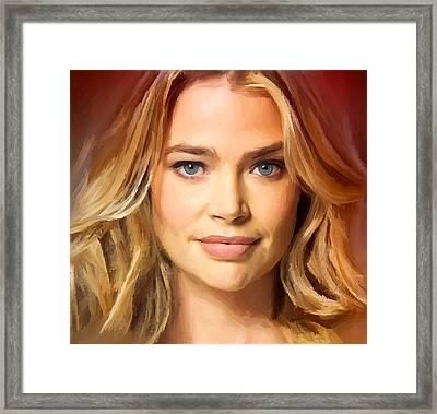 Denise Richards Framed Print by Yury Malkov