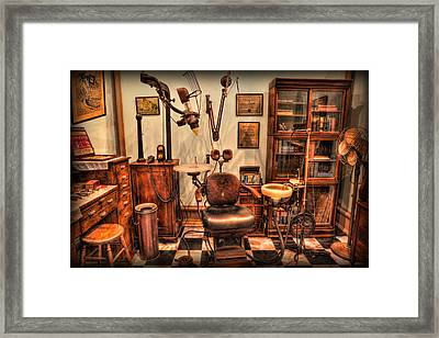 Dentist - The Office Of Edward Angle Framed Print by Lee Dos Santos