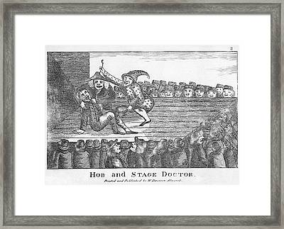 Dentistry Caricature, 19th Century Framed Print by Science Photo Library