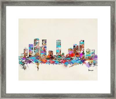 Denver Colorado Skyline Framed Print