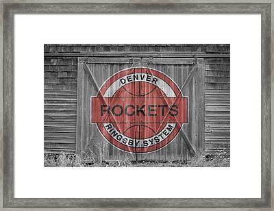 Denver Rockets Framed Print by Joe Hamilton