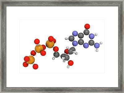 Deoxyguanosine Triphosphate Molecule Framed Print by Molekuul