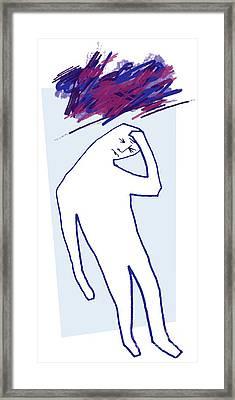 Depression, Conceptual Artwork Framed Print