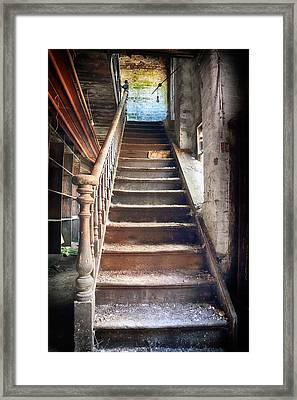 Derelict Stairway Framed Print by Russ Dixon