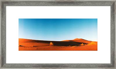 Desert At Sunrise, Sahara Desert Framed Print