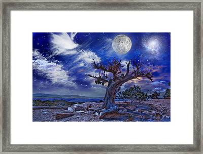 Framed Print featuring the digital art Desert by Bruce Rolff