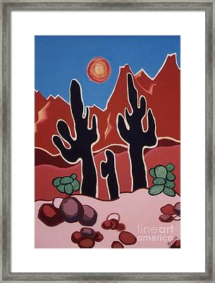 Framed Print featuring the painting Desert Heat by Joyce Gebauer
