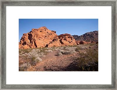 Desert Rock Formations Framed Print