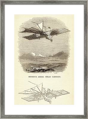 Design For The Aerial Steam Carriage Framed Print by Universal History Archive/uig