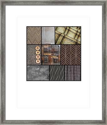 Design Number One Framed Print by Andrea Cofferen